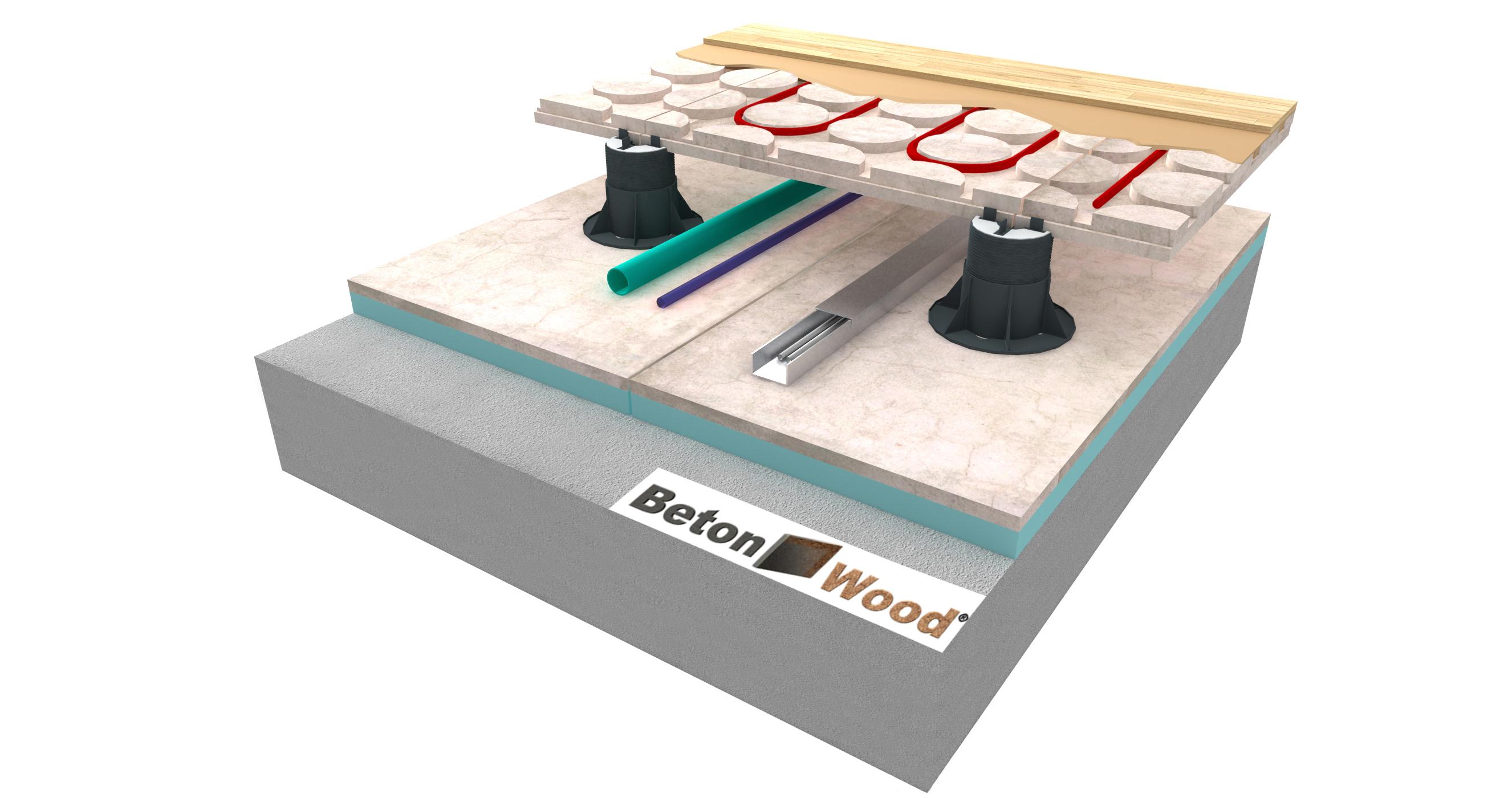 Isolamento pavimento flottante in legno con sughero | Applicazioni |  Tecnosugheri srl - sughero naturale per edilizia